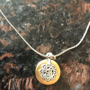 """BRIGHTON """"HAPPINESS"""" TWO TONE ADJUSTABLE NECKLACE"""